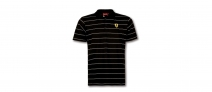 Ferrari Mens Polo White Stripes
