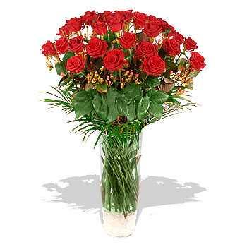 Two Dozen Red Roses *Free Vase*