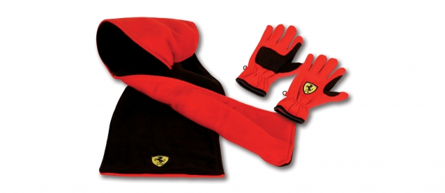 Ferrari Kids Gloves And Scarf Pack