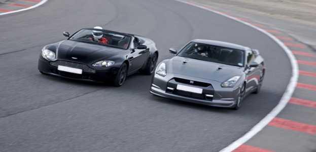 Nissan Gtr V Aston V8 Vantage